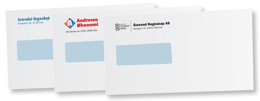 adresse på konvolutt