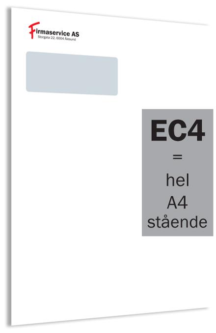 EC4 konvolutt med vindu