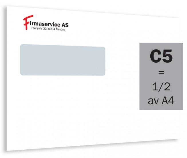 C5 konvolutt med vindu